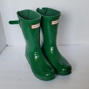 Hunter Midcalf  Rainboots Glossy Green Size 7W